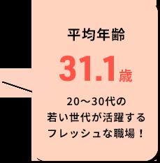 平均年齢31.1歳
